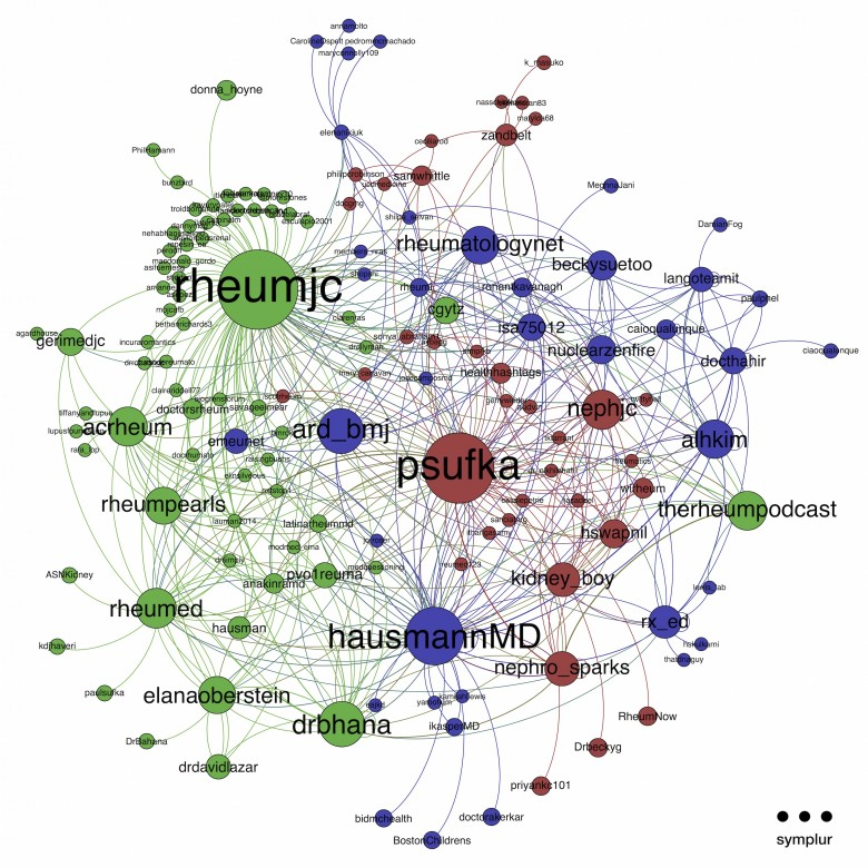 Network Centrality Graph from Inaugural RheumJC