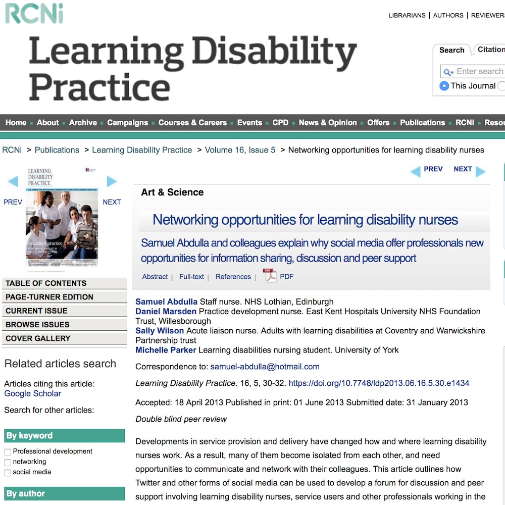 10 Simple Tips For Social Media Best Practice: Networking Opportunities For Learning Disability Nurses #hcsmR