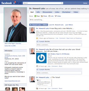 Best practices for healthcare facebook page
