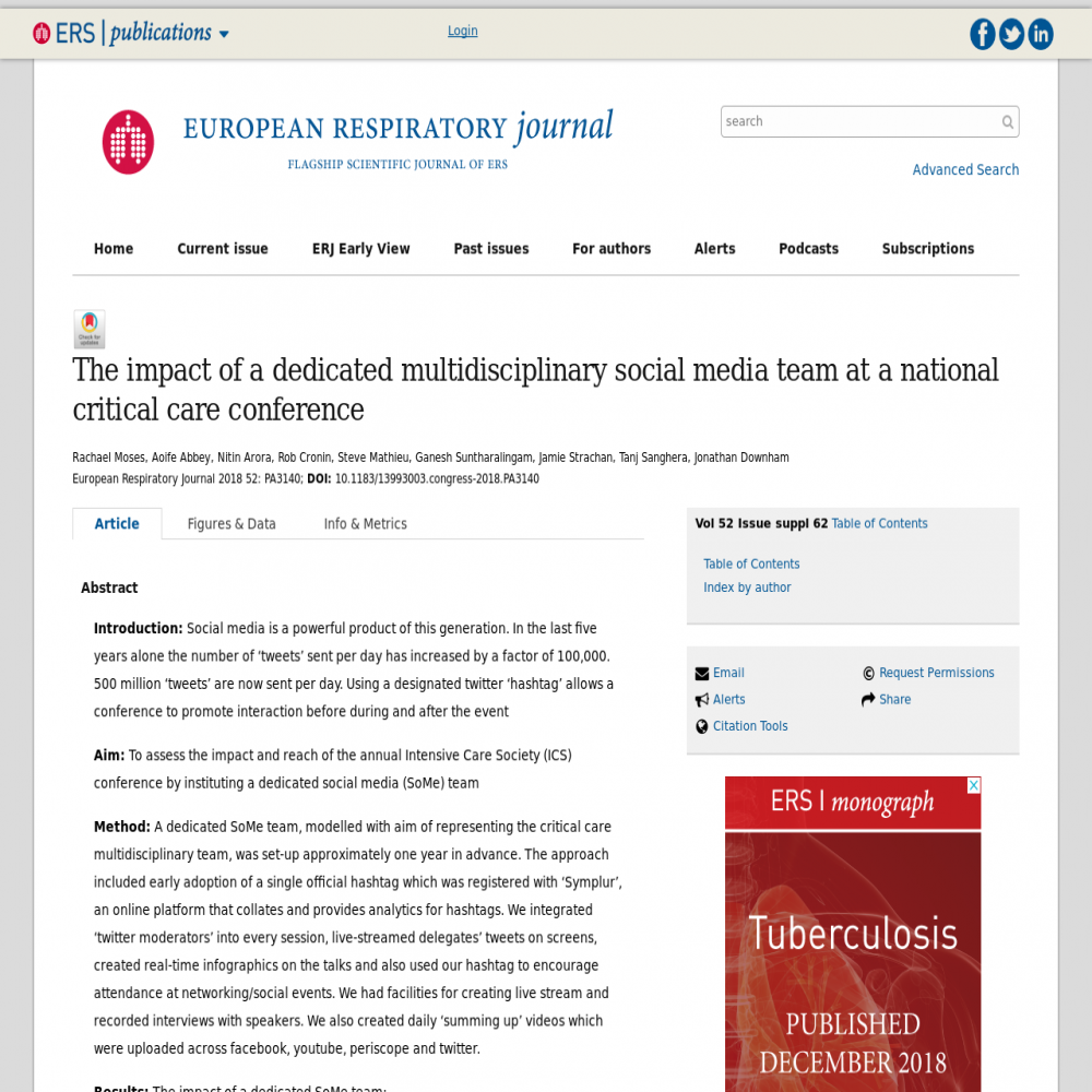 Healthcare social media research published in September 14, 2018