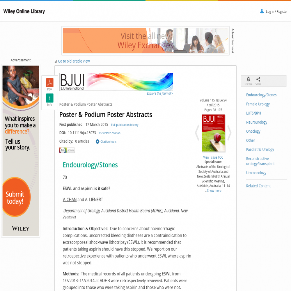 A healthcare social media research article published in BJU International, 2015