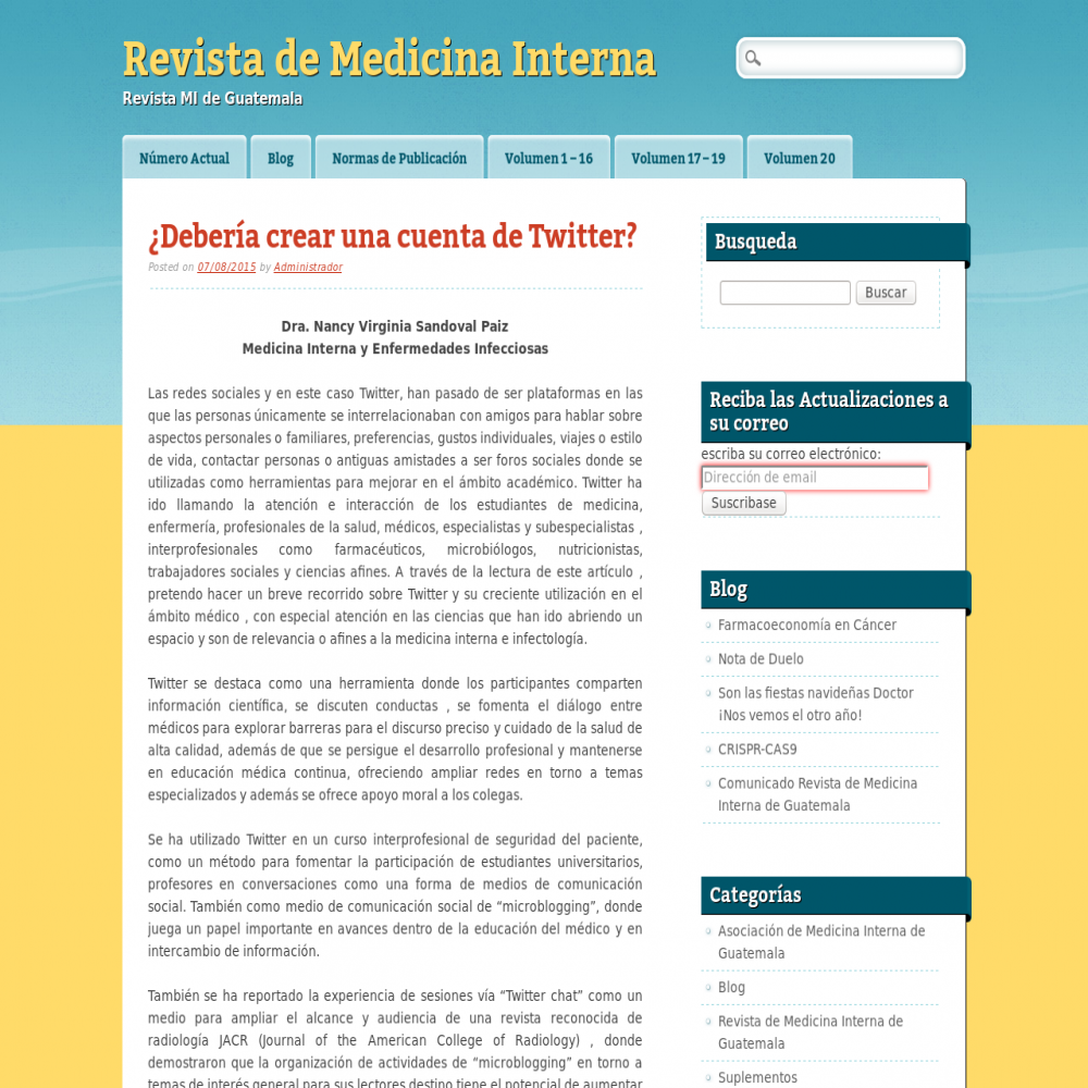 Healthcare social media research published in 2015