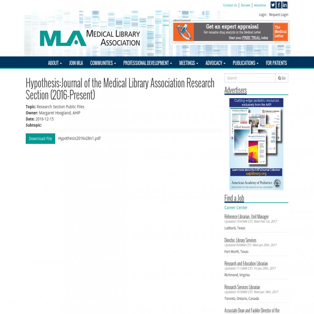 Healthcare social media research published in 2016